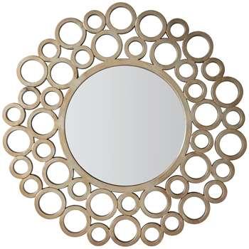 John Lewis Madoka Round Mirror, 118cm, Gold (H118 x W118 x D2cm)