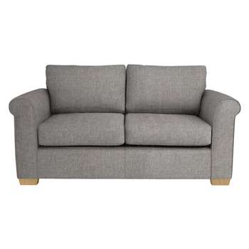 John Lewis Malone 2 Seater Small Sofa Bed with Pocket Sprung Mattress, Stanton French Grey (86 x 172cm)