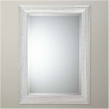 John Lewis Marina Wood Mirror, Natural (H67 x W57cm)