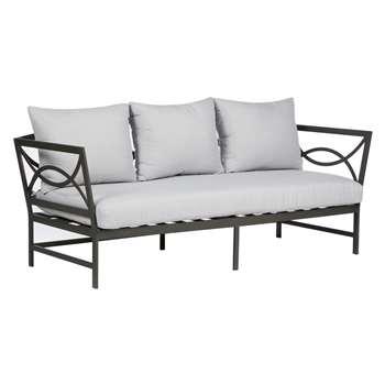 John Lewis Marlow Aluminium 3 Seater Sofa, Black / Grey (79.4 x 191cm)