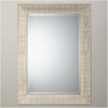 John Lewis Mason Pine Wood Mirror, Natural (H92 x W67 x D2cm)