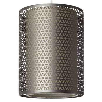 John Lewis Meena Easy-to-Fit Pendant Light, Brushed Steel (23 x 18cm)