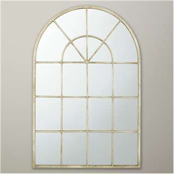 John Lewis Metal Window Mirror, Cream (90 x 60cm)