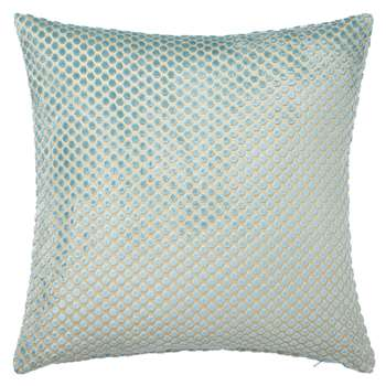 John Lewis Mini Spot Cushion, Duck Egg (45 x 45cm)