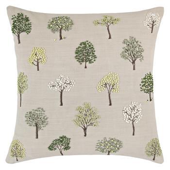 John Lewis Mini Trees Cushion Green
