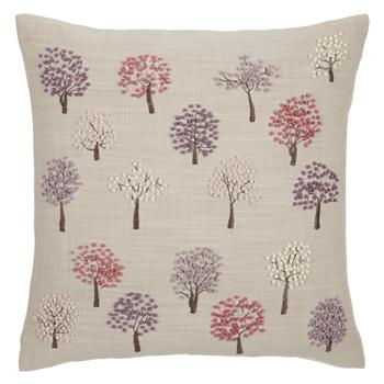 John Lewis Mini Trees Cushion Pink