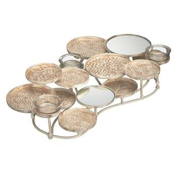 John Lewis Mirror Tealight Holder, Small (8 x 27cm)
