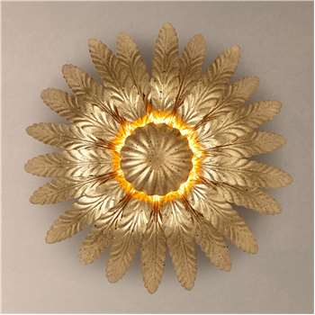 John Lewis Montserrat Leaf Wall Light, Gold (H27 x W27 x D11cm)