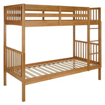 John Lewis Morgan Story Time Bunk Bed, Oak (175.6 x 199.2cm)