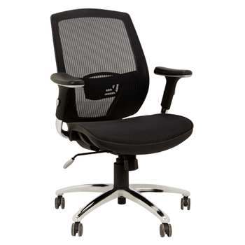 John Lewis Murray Ergonomic Office Chair, Black (108 x 73cm)