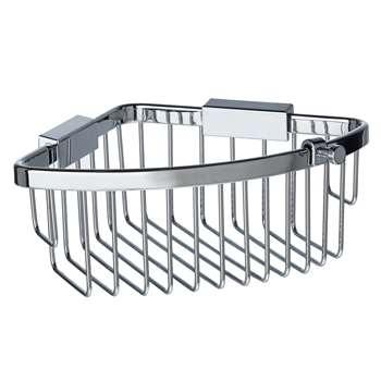 John Lewis New Classic Shower Corner Basket (8 x 23.5cm)