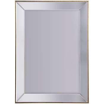 John Lewis Niklas Rectangular Distressed Gold Edged Mirror (H112 x W81cm)