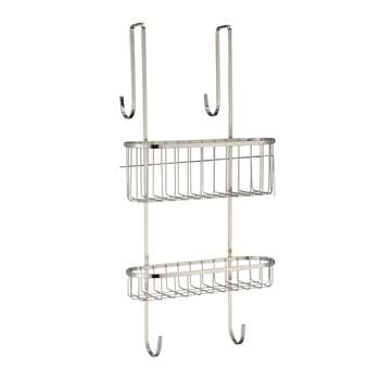 John Lewis Over Door Double Shelf Shower Basket (58 x 26cm)