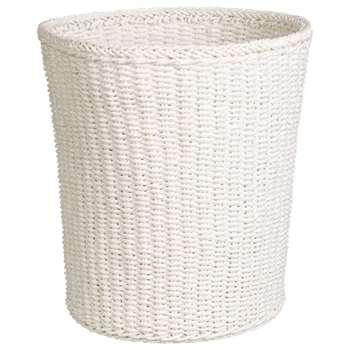 John Lewis Paper Rope Wastepaper Bin, White