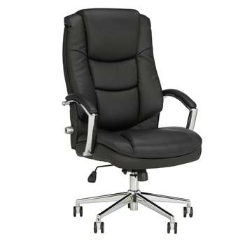 John Lewis & Partners Abraham Office Chair, Black (H118 x W65 x D79cm)