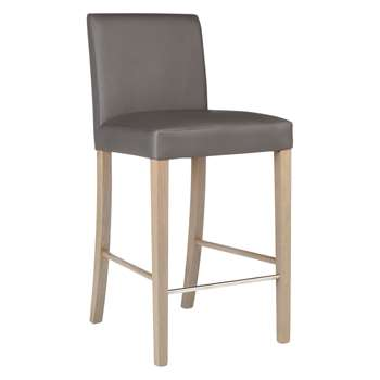 John Lewis & Partners Alexa Bar Chair, Grey (H98 x W46 x D53cm)