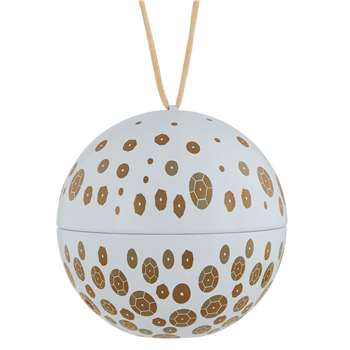 John Lewis & Partners All That Glitters Bauble Candle, 140g (H8 x W8 x D8cm)