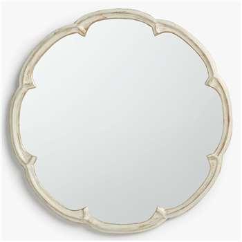 John Lewis & Partners Annabel Cast Decorative Mirror, Cream (H60 x W60 x D3cm)