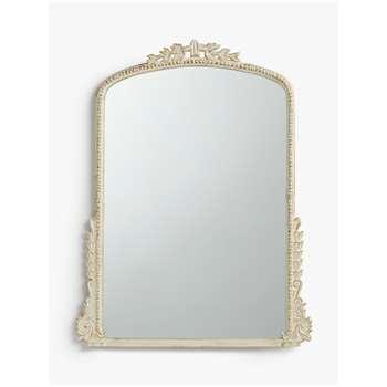 John Lewis & Partners Annabel Overmantle Mirror, Cream (H92 x W68 x D3cm)