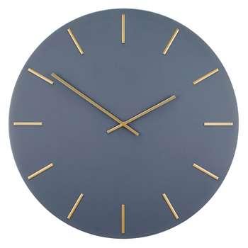 John Lewis & Partners Arne Wall Clock, Brass/Grey (Diameter 60cm)