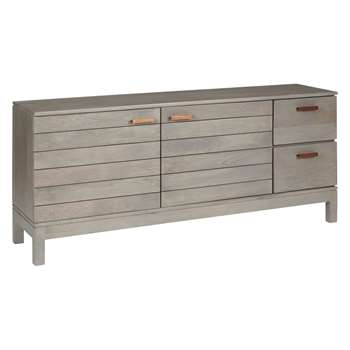 John Lewis & Partners Asha TV Stand Sideboard for TVs up to 60, Grey (H60 x W140 x D35cm)