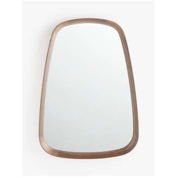 John Lewis & Partners Astrid Triangular Mirror, Walnut Wood (H95 x W68 x D8cm)