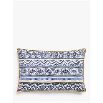 John Lewis & Partners Atacama Showerproof Reversible Outdoor Cushion (H35 x W55cm)