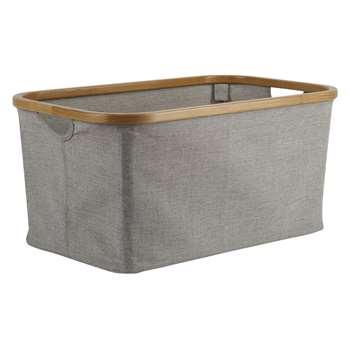 John Lewis & Partners Bamboo Rim Storage Basket (H16 x W38 x D26cm)