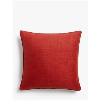 John Lewis & Partners Barathea Cushion, Red (H45 x W45cm)