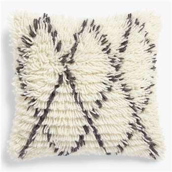 John Lewis & Partners Berber Cushion, Mono (H45 x W45cm)