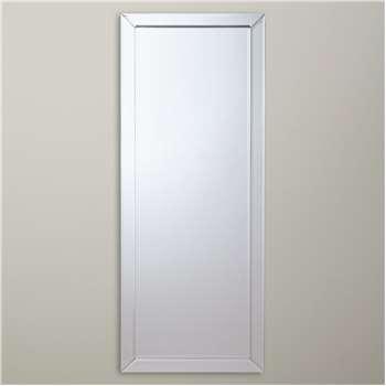 John Lewis & Partners Bevel Simple Mirror, Clear (H150 x W60 x D2cm)