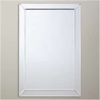 John Lewis & Partners Bevel Simple Wall Mirror, Clear (H90 x W60 x D2cm)