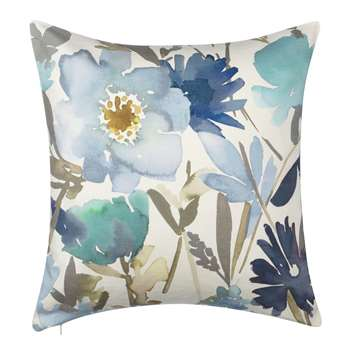 John Lewis & Partners Bloom Cushion, Blue (H50 x W50cm)