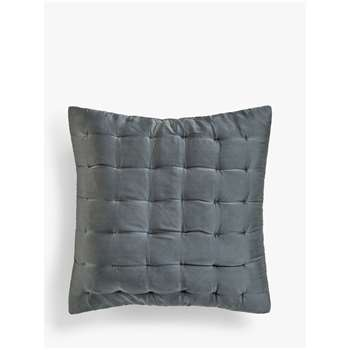 John Lewis & Partners Boutique Hotel Silk Cushion Cover, Graphite (H65 x W65cm)