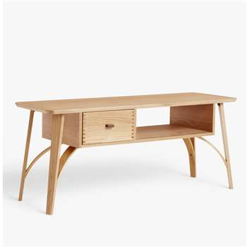 John Lewis & Partners Branch TV Stand for TVs up to 60, Oak (H50 x W120 x D40cm)