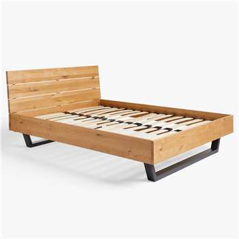 John Lewis & Partners Calia Bed Frame, Double, Oak (H93 x W142 x D204cm)