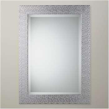 John Lewis & Partners Cassandra Mirror, Silver (H68 x W58cm)