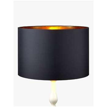 John Lewis & Partners Cassie Lampshade, Black/Brass (H18 x W25 x D25cm)