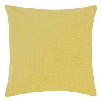 John Lewis & Partners Chenille Cushion, Gold (H50 x W50cm)