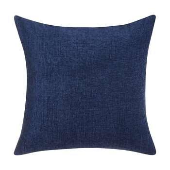 John Lewis & Partners Chenille Cushion, Navy (H50 x W50cm)