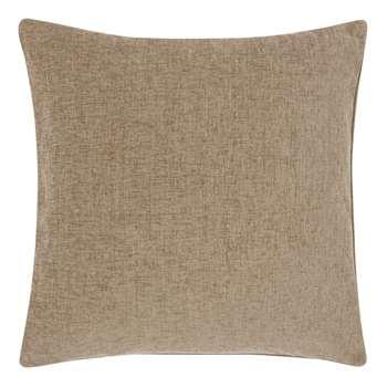 John Lewis & Partners Chenille Cushion, Sable (H50 x W50cm)