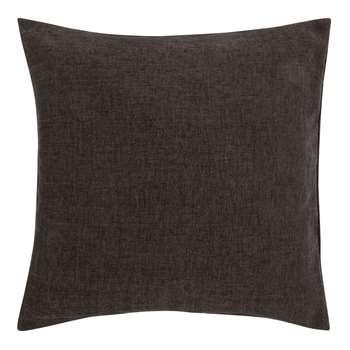 John Lewis & Partners Chenille Cushion, Steel (H50 x W50cm)
