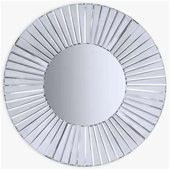 John Lewis & Partners Chester Round Mirror, Dia.80cm (H80 x W80 x D5cm)