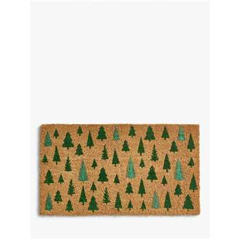 John Lewis & Partners Christmas Trees Door Mat (H40 x W70cm)