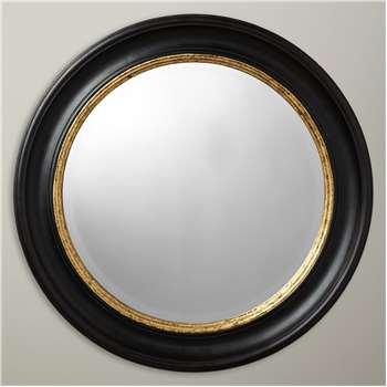 John Lewis & Partners Circle Wall Mirror, Black/Gold (H68 x W68 x D4.3cm)