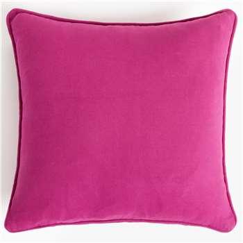 John Lewis & Partners Dahlia Showerproof Outdoor Cushion, Purple (H43 x W43cm)