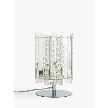 John Lewis & Partners Dazzle Crystal Table Lamp, Clear (H26.5 x W17 x D17cm)
