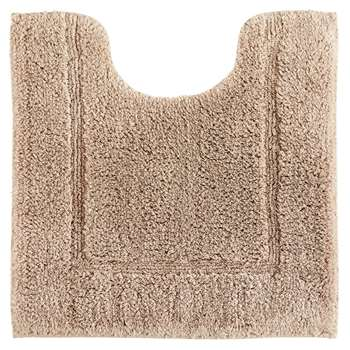 John Lewis & Partners Deep Pile Pedestal Mat with Microfresh Technology, Stone (H50 x W55cm)