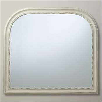 John Lewis & Partners Distressed Overmantel Mirror, Cream (H95 x W104 x D4cm)
