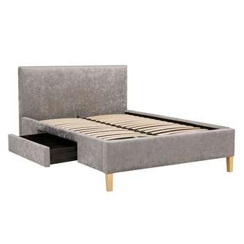 John Lewis & Partners Emily Storage Bed Frame, Double, Grey (H125 x W149 x D208cm)